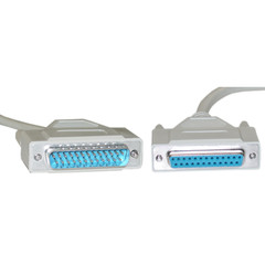 Null Modem Cable, DB25 Male to DB25 Female, 8 Conductor, 6 foot - Part Number: 10D3-08206