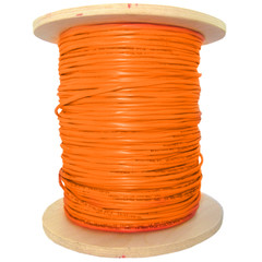 2 Fiber Indoor Distribution Fiber Optic Cable, Multimode, 50/125, OM2, Orange, Riser Rated, Spool, 1000 foot - Part Number: 10F2-102NH