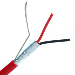 Shielded Fire Alarm / Security Cable, Red, 14/2 (14 AWG 2 Conductor), Solid, FPLR, Spool, 1000 foot - Part Number: 10F7-5271NH