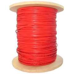 Shielded Plenum Fire Alarm / Security Cable, Red, 12/2 (12 AWG 2 Conductor), Solid, FPLP, Pullbox, 1000 foot - Part Number: 11F8-5271NH