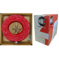 Fire Alarm / Security Cable, Red, 14/2 (14 AWG 2 Conductor), Solid, FPLR, Pullbox, 1000 foot - Part Number: 10F7-0271TH
