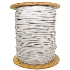 Fire Alarm / Security Cable, White, 14/2 (14 AWG 2 Conductor), Solid, FPLR, Pullbox, 1000 foot - Part Number: 10F7-0291TH
