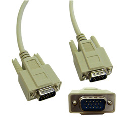VGA Cable, Low resolution, HD15 Male, 15 Conductor, 10 foot - Part Number: 10H1-01110