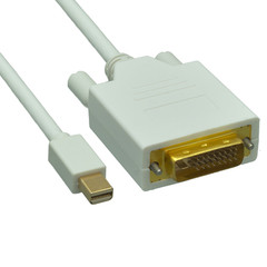 Mini DisplayPort to DVI Video Cable, Mini DisplayPort Male to DVI Male, 6 foot - Part Number: 10H1-62206