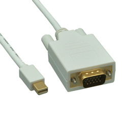 Mini DisplayPort to VGA Video Cable, Mini DisplayPort Male to VGA Male, 10 foot - Part Number: 10H1-62410