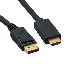 DisplayPort to HDMI Cable, DisplayPort Male to HDMI Male, 15 foot - Part Number: 10H1-64115