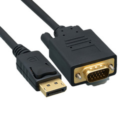 DisplayPort to VGA Video cable, DisplayPort Male to VGA Male, 6 foot - Part Number: 10H1-65106
