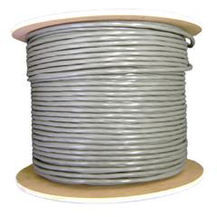 Security/Alarm Wire, Gray, 22/10 (22AWG 10 Conductor), Stranded, Spool, 1000 foot - Part Number: 10K4-01021MH