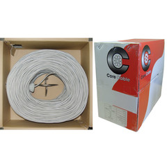 Security/Alarm Wire, Gray, 14/2 (14AWG 2 Conductor), Stranded, CM / Inwall rated, Pullbox, 1000 foot - Part Number: 10K7-0221SH