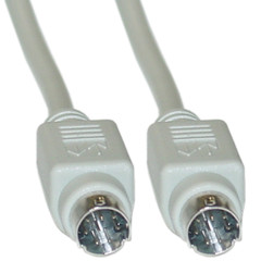 Apple Serial cable, MiniDin8 Male, 8 Conductor, 6 foot - Part Number: 10M3-04106