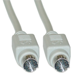 Apple ImageWriter II Cable, MiniDin8 Male, 8 Conductor, 10 foot - Part Number: 10M3-06110