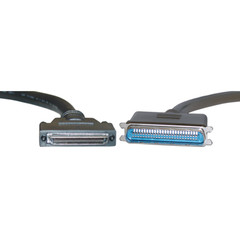 SCSI II Cable, VHDCI 68 (0.8mm) Male to Centronics 50 Male, Offset Orientation, 3 foot - Part Number: 10N3-02103