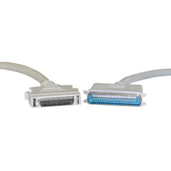SCSI II cable, HPDB50 (Half Pitch DB50) Male to Centronics 50 (CN50) Male, 25 Twisted Pairs, 3 foot - Part Number: 10P1-01103