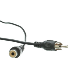 RCA Audio / Video Extension Cable, RCA Male to RCA Female, 12 foot - Part Number: 10R1-01212