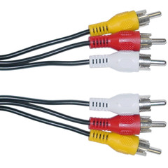 RCA Audio / Video Cable, 3 RCA Male, 50 foot - Part Number: 10R1-03150