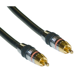 Premium Digital Coaxial RCA Cable, RCA Male, 24K Gold Connectors, 3 foot - Part Number: 10R4-11103