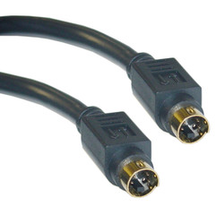 S-Video Cable, MiniDin4 Male, Gold-plated connector, 12 foot - Part Number: 10S2-01112G