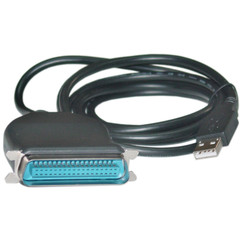USB to Parallel Printer Adapter Cable, USB Type A to Centronics 36 (CN36), 6 foot - Part Number: 10U1-03106