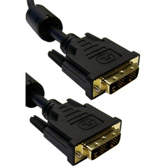 DVI-D / DVI-D Single Link Cable with Ferrite, 2 meter (6.6 foot) - Part Number: 10V1-05302BK-F
