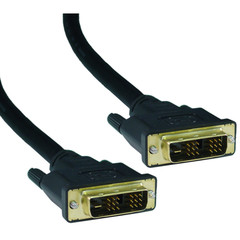 DVI-D Single Link Cable, DVI-D Male, 5 meter (16.5 foot) - Part Number: 10V1-05305BK