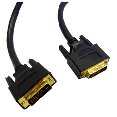 DVI-D Dual Link Cable, Black, DVI-D Male, 1 meter (3.3 foot) - Part Number: 10V2-05301BK