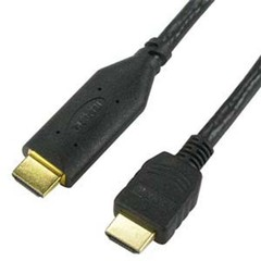 Active HDMI Cable, High Speed, HDMI Male, CL2 rated, 26 AWG, 75 foot - Part Number: 10V3-41175