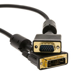 DVI-A to VGA Cable (Analog), Black, DVI-A Male to HD15 Male, 2 meter (6.6 foot) - Part Number: 10V4-05302BK