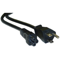 Notebook/Laptop Power Cord, NEMA 5-15P to C5, 3 Pin, 6 foot - Part Number: 10W1-15206