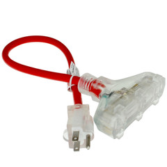 Outdoor Power Splitter - 2ft - 12awg - UL - Part Number: 10W4-63002