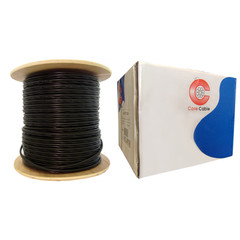 Bulk RG59 Siamese Coaxial/Power Cable, Black, Solid Core (Copper) Coax, 18/2 (18 AWG 2 Conductor) Stranded Copper Power, Spool, 1000 foot - Part Number: 10X3-18222NH