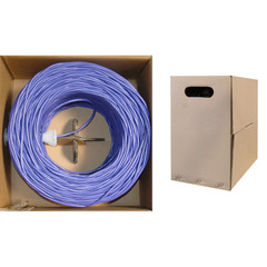 Bulk Cat5e Purple Ethernet Cable, Solid, UTP (Unshielded Twisted Pair), Pullbox, 1000 foot - Part Number: 10X6-041TH