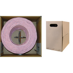 Bulk Cat5e Pink Ethernet Cable, Stranded, UTP (Unshielded Twisted Pair), Pullbox, 1000 foot - Part Number: 10X6-072SH