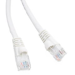 Cat5e White Ethernet Patch Cable, Snagless/Molded Boot, 7 foot - Part Number: 10X6-09107