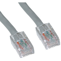 Cat5e Gray Ethernet Patch Cable, Bootless, 7 foot - Part Number: 10X6-12107