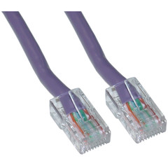 Cat6 Purple Ethernet Patch Cable, Bootless, 15 foot - Part Number: 10X8-14115