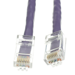 Cat5e Purple Ethernet Patch Cable, Bootless, 2 foot - Part Number: 10X6-14102