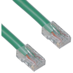 Cat5e Green Ethernet Patch Cable, Bootless, 5 foot (Box of 200) - Part Number: KIT-10X6-15105