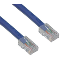 Cat5e Blue Ethernet Patch Cable, Bootless, 10 foot - Part Number: 10X6-16110