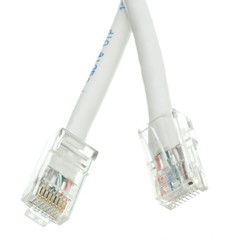 Cat5e White Ethernet Patch Cable, Bootless, 1 foot - Part Number: 10X6-19101