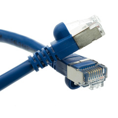 Shielded Cat5e Blue Ethernet Cable, Snagless/Molded Boot, 1 foot - Part Number: 10X6-56101