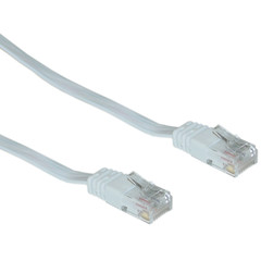 Cat5e White Flat Ethernet Patch Cable, 32 AWG, 3 foot - Part Number: 10X6-69103