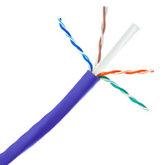 Bulk Cat6 Purple Ethernet Cable, Solid, UTP (Unshielded Twisted Pair), Pullbox, 1000 foot - Part Number: 10X8-041TH
