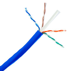 Bulk Cat6 Blue Ethernet Cable, Stranded, UTP (Unshielded Twisted Pair), Pullbox, 1000 foot - Part Number: 10X8-061SH