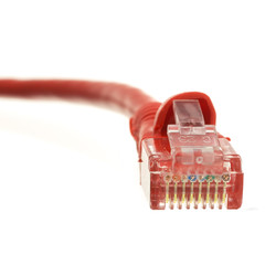 Cat6 Red Ethernet Patch Cable, Snagless/Molded Boot, 100 foot - Part Number: 10X8-071HD