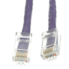 Cat6 Purple Ethernet Patch Cable, Bootless, 1 foot - Part Number: 10X8-14101
