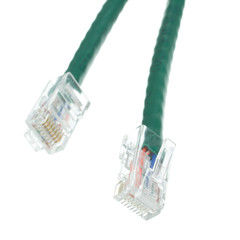 Cat6 Green Ethernet Patch Cable, Bootless, 7 foot - Part Number: 10X8-15107