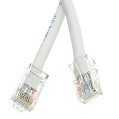 Cat6 White Ethernet Patch Cable, Bootless, 1 foot - Part Number: 10X8-19101