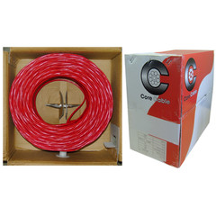 Plenum Fire Alarm / Security Cable, Red, 18/4 (18 AWG 4 Conductor), Solid, FPLP, Pullbox, 1000 foot - Part Number: 11F5-0471TH