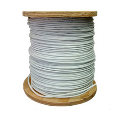 Plenum Security Cable, White, 22/8 (22 AWG 8 Conductor), Stranded, CMP, Spool, 1000 foot - Part Number: 11K4-0891MH