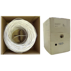 Plenum Security Cable, White, 18/2 (18 AWG 2 Conductor), Stranded, CMP, Pullbox, 1000 foot - Part Number: 11K5-0291SH